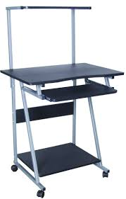 multi level computer desk black