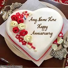 Marriage Anniversary Cake With Name And Photo Edit Rapi Cake Gallery