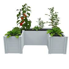 6 ft white pvc raised garden bed
