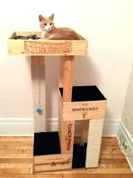 diy cat tree plans cat furniture cat tree with wine crate cat litter box furniture plans