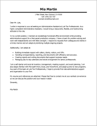 Cover Letter Examples For Resume Administrative Assistant Cover