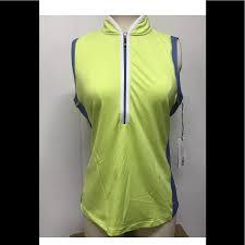 Jofit Sleeveless Tapered Collar Polo Top Nwt