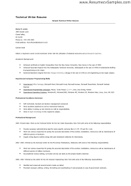 Gallery of: Technical Writer Resume Sample