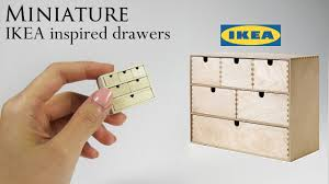 ikea miniature furniture. Unique Miniature DIY Miniature IKEA Drawers Throughout Ikea Miniature Furniture T