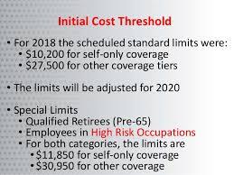 2018 cadillac tax limits. interesting 2018 pretax salary reductions 19 initial cost threshold u2022 for 2018 intended cadillac tax limits