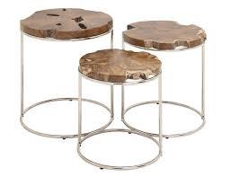 teak and metal round table set