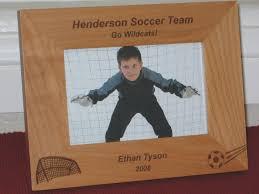 soccer picture frame personalized frame laser engraved soccer ball and goal 24 jpg