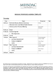 Agenda Templates Business Meeting Agenda Template Sample Professional Sample Templates 12