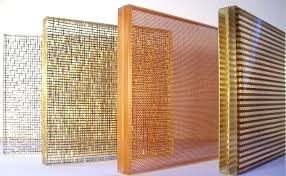 wired mesh glass four diffe types of woven wire mesh laminated glass standing on the table