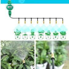 micro drip irrigation system plant self watering brass adjule misting sprinkler garden water kits diy automatic