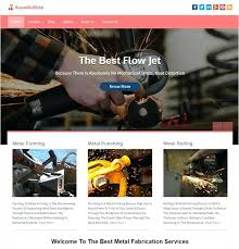 Free Website Template Extraordinary Assemble Metal Template Is Designed Perfectly For Those