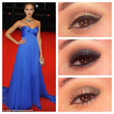 eye makeup for red dress makeup madness prom cobalt dress 1 clic this looks homeing makeup for navy blue