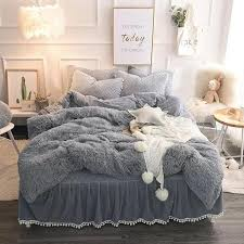 luxury 4 piece faux fur bedding set
