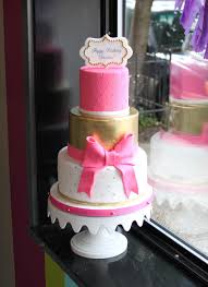 Pink And Gold Birthday Cake Whipped Bakeshop