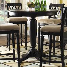 table exciting 42 inch tall 36 round top black pedestal pub table regarding glass top bar height table prepare