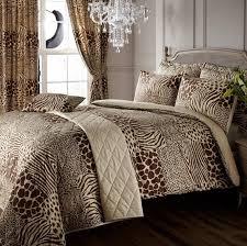 8pc safari animal print super king duvet cover curtains with regard to size zebra comforter set