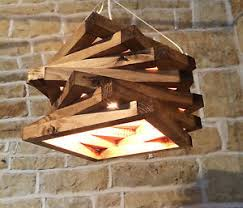 Image is loading HANDMADE-CEILING-LIGHT-WOODEN-SOLID-WOOD-SPIRAL-UNIQUE-