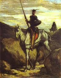 don quixote and sancho pansa 1849 1850 honore daumier oil painting