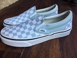 Light Blue Checkered Vans Light Blue Shoes Quinceanera