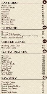 Gourmet Bakers Menu Menu For Gourmet Bakers Paddapukur Kolkata