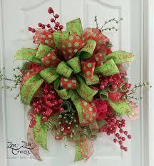 Christmas Berry Deco Mesh Wreath by ZsaZsaCraza