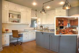 painted cabinets. Fine Painted Painting Kitchen Cabinets Before Or After Changing The Counters And  Backsplash In Painted Cabinets