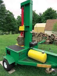 diy log splitter loading arm