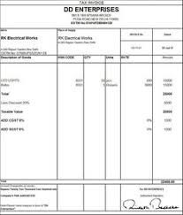 Sample Export Invoice Format Of Export Invoice In Excel