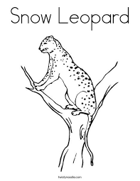 Snow Leopard Coloring Page Lifestyle Ice Skating Animal
