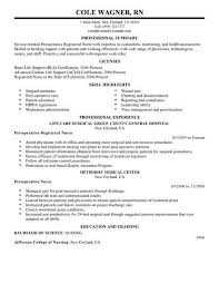 Best Nurse Resume Best Perioperative Nurse Resume Example Livecareer