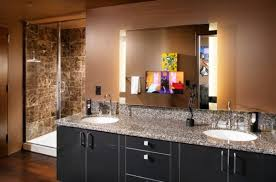 Furniture Amusing Mirror Lighting Wall Tech Metro Long Bath