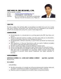 Cpa Resume Resume Cv Cover Letter