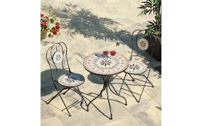 cadiz mosaic bistro set 60cm round table sun tile