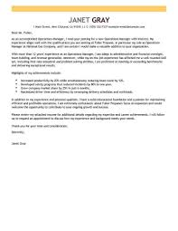 Operations Manager Cover Letter Best Operations Manager Cover