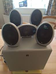 kef egg subwoofer. kef kht 1005 eggs home theatre surround sound speakers and subwoofer egg