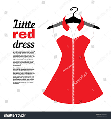 Little Red Dress Fashion Drawing Stock Vector 184678547 Shutterstock