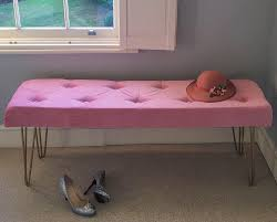 pink bedroom bench.  Bench How To DIY This Pink Velvet U0026 Gold Legged Bedroom Bench From Scratch U2014  MELANIE LISSACK INTERIORS Intended F