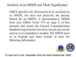 osha form 174 material safety data sheet msds a material safety data sheet msds