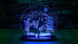 Mô Hình Đèn Led Ánh Bình Minh 35 x 35 cm