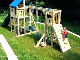 backyard diy playground plans design climbing wall rock rigid
