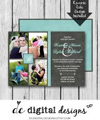 collage wedding invitations any color digital wedding invitation picture collage printed