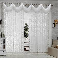 White Curtains for Living Room Bedroom European Curtain Sheer Modern ...