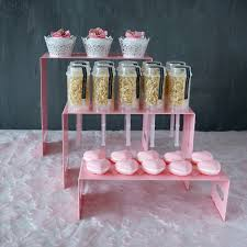 Push Pop Display Stand 100PCSSet Cake Push Pops product display Stands Pink series theme 3