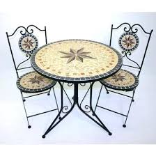 mosaic bistro set magnificent table and chairs sandstone star garden of 3 outdoor sets uk mosaic bistro set