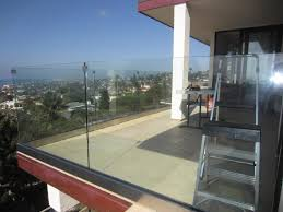 tempered glass balcony railing point loma