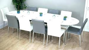 what size round table seats 8 glass dining room table seats 8 chairs seat set oval