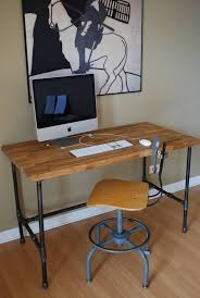inspiration galvanized pipe desk table could also add a shelf pertaining to diy design 12