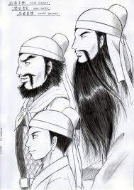 久々の桃園三兄弟 いよいよ小説の挿絵描き始めv V イラスト