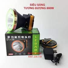 CÓ SẴN) Đèn pin đội đầu siêu sáng A366 bóng led 800W, pin khủng, chống nước  mưa ánh sáng trắng ánh sáng vàng - Đèn pin