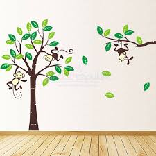 monkey tree wall sticker baby room decals animals decals for kids rooms ikea